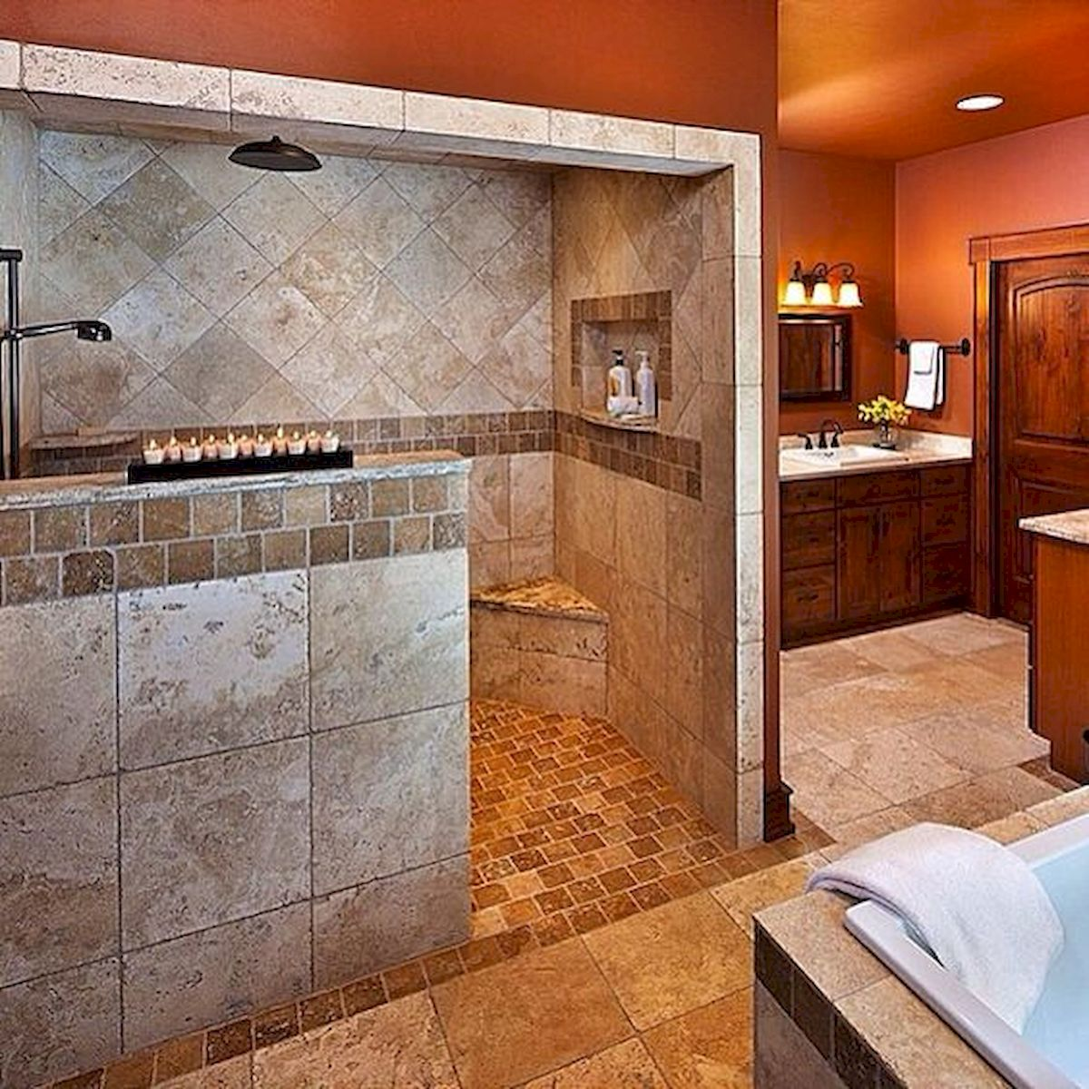 50 Fantastic Walk In Shower No Door for Bathroom Ideas   Ideaboz
