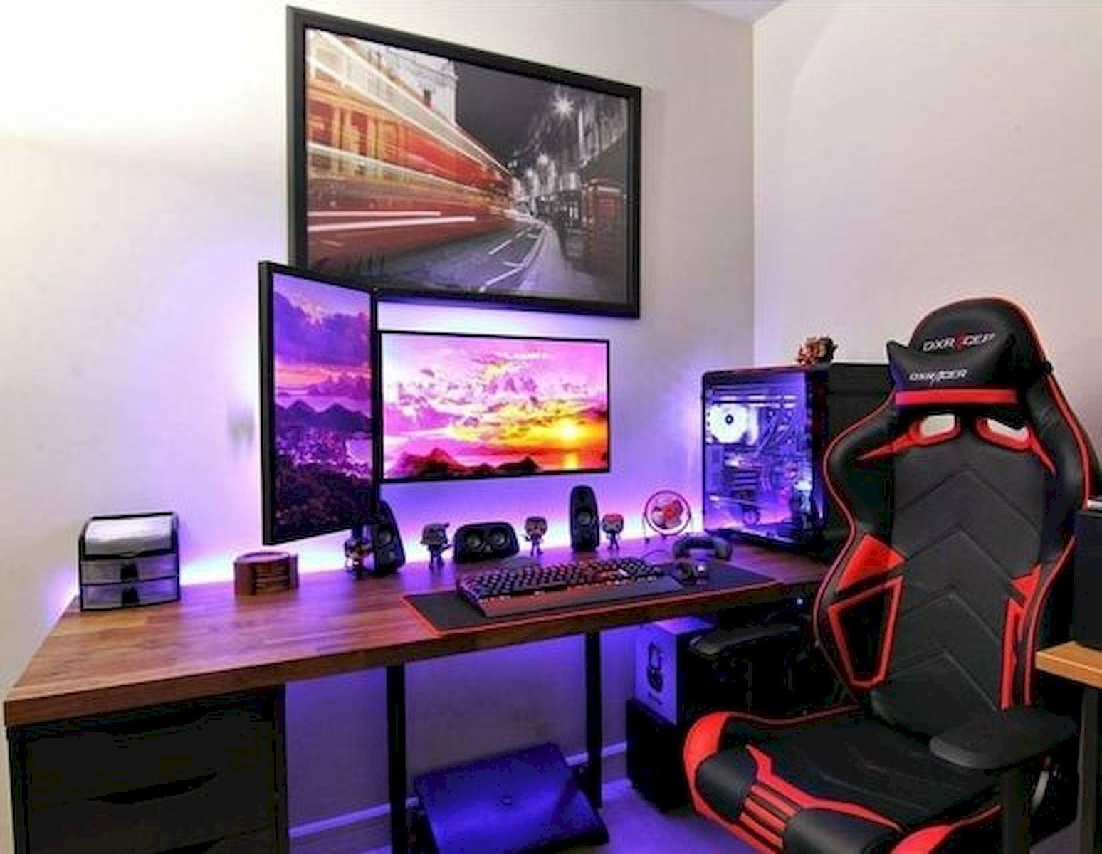 50 Stunning Computer Gaming Room Decor Ideas and Design ...