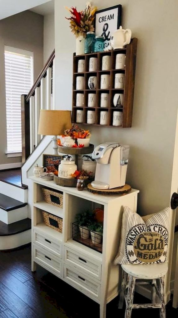60 Amazing Mini Coffee Bar Ideas for Your Home (35) - Ideaboz