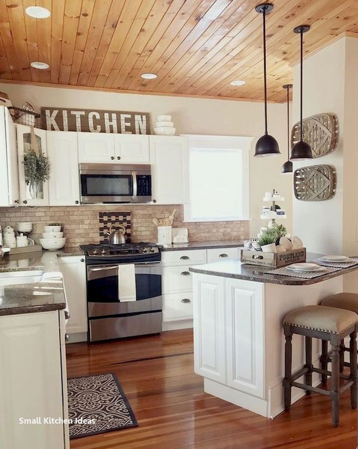 37 Farmhouse Wall Decor Ideas for Kitchen (23)